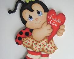 Enfeite porta maternidade Joaninha