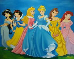 Painel em tecido Princesas