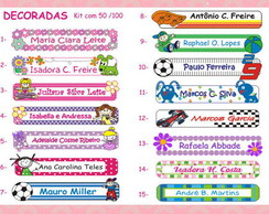 100 Etiq. Pl�sticas Decoradas