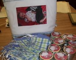 Bolsa com foto + lembrancinhas