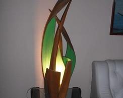 Lumin�ria de canoa de coqueiro
