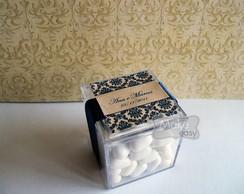 Mini caixa de acr�lico - Casamento