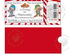 Convite Ticket de Circo
