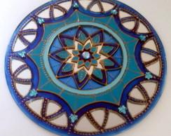 Espelho Mandala Vitral Serenidade