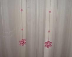 PIngente cortina flor rosa