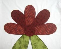Camiseta de Flor com Folha