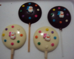PIRULITOS DE CHOCOLATE COM DECORA��O