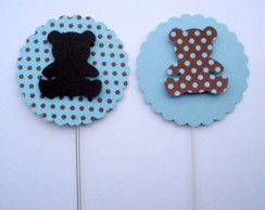 Topper ursos azul e marrom