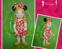 Menina vestida de Minnie
