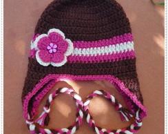 Touca de Croch� com Flor