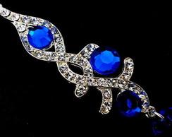 Brinco Festa Azul Royal - com gota