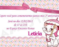 Convite Gatinha Marie - Digital
