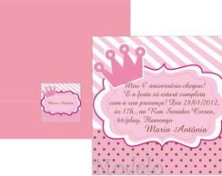Convite Princesa Proven�al Rosa e Marrom