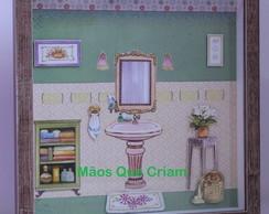 Quadrinho para a sala de banho