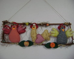 Poleiros de galinhas tecido