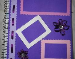 Caderno com capa decorada - E.V.A.
