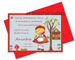 Convite Chap�uzinho Vermelho