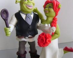 Shrek e Fiona - Topo de Bolo