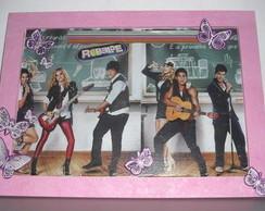 Quadro Grupo Rebelde - rosa
