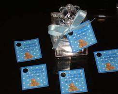 Caixa ursinho com tag personalizado