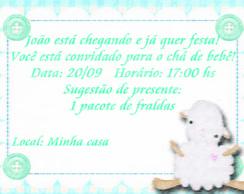 convite ovelhinha