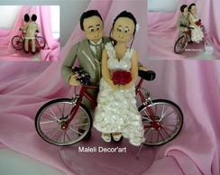 Noivinhos na bicicleta - Modelo FOFURA