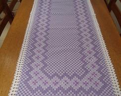 Caminho de mesa - Xadrez (lil�s)
