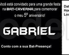 Convite Ingresso - Batman - Modelo02
