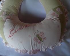 Almofada feminina patchwork e aplica��o