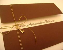 Convite modelo envelope