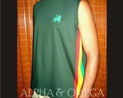 Camiseta Reggae Artesanal Vd. Musgo/mach