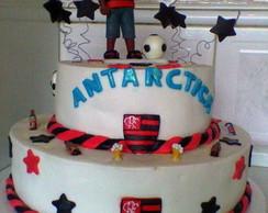 Bolo Decorado Flamengo e Antarctica