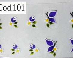 Bot�es com borboletas Cod.101