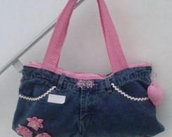Bolsa customizada cal�a jeans