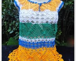 Blusa de Croch� Colorida