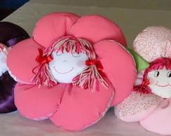 Almofada Flor com boneca