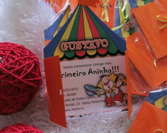 Convite Infantil - Tema CIRCO / PALHA�O