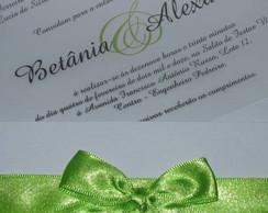 Convite de Casamento com Vegetal