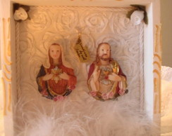 Quadro Sagrado Cora��o de Jesus e Maria