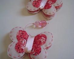 M�bile de borboletas - rosa/floral II