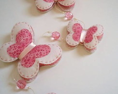 M�bile de borboletas - rosa salm�o