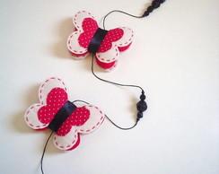 M�bile de borboletas - vermelho/preto