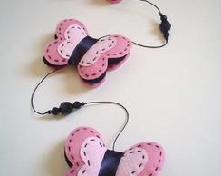 M�bile de borboletas - rosa/preto