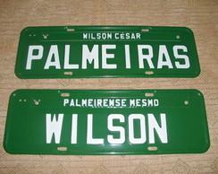 PLACA PALMEIRAS COM NOME