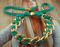 Pulseira  gold and green