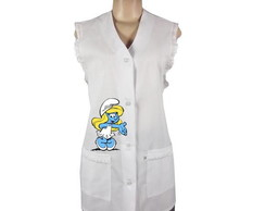 Avental Professora - Smurfette
