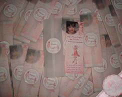Convite Angelina Ballerina marca Pagina