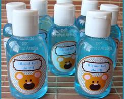 �lcool Gel para M�os Urso Marrom e Azul