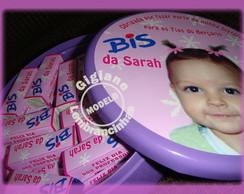 Lata Personalizada c/ Chocolate Bis