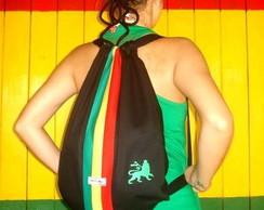 Mochila Reggae Tafari Lion PRETA (sarja)
